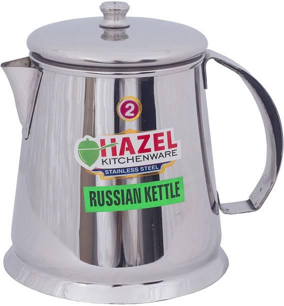 HAZEL 0.9 L Kettle Restaurant Stainless Steel Tea Pot Water Kettle Pitcher Coffee Pot with Handle (900 ml), Silver Jug
