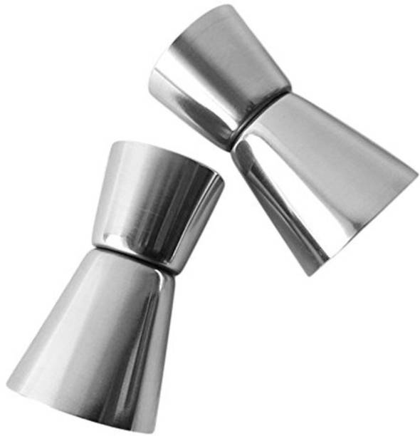 upalabdh Stainless Steel Jigger Vodka Drink Liquor Mixing Glass Peg Measure Glass Peg Measure, Mixing Glass Decanter