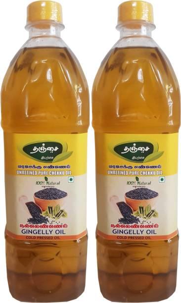 THANJAI NATURAL Natural Gingelly oil Cold pressed 1 X 2 Best offer 2000ml Sesame Oil Plastic Bottle