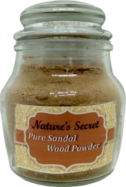 Nature's Secret Pure Sandal Wood Powder with Glass Jar packing, 50g
