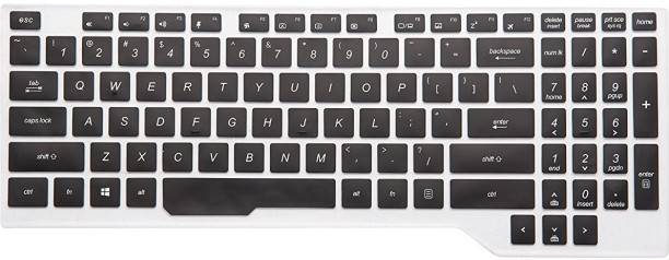 Transparent Saco Keyboard Protector Silicone Skin Cover for Dell Inspiron 3543 X560334IN9 15.6-inch Touchscreen Laptop