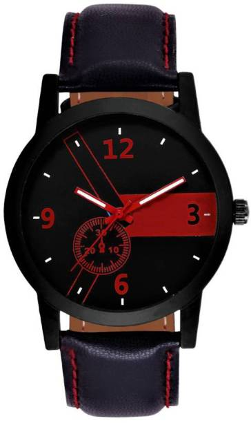 c88cad97e LEBENSZEIT New Look Fashionable Stylish Red Chronograph Watch For Men & Women  Watch - For Boys