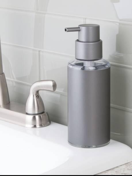 Interdesign Metro Aluminum Round Soap Dispenser Pump For Kitchen And Bathroom Vanity 296 Ml Conditioner