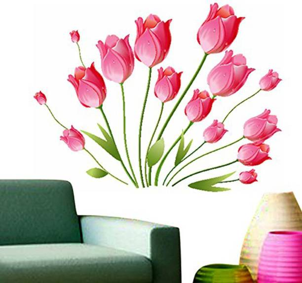 Pixel Print Large Flower Wall Stciker for Bedroom, Hall Size 120X120