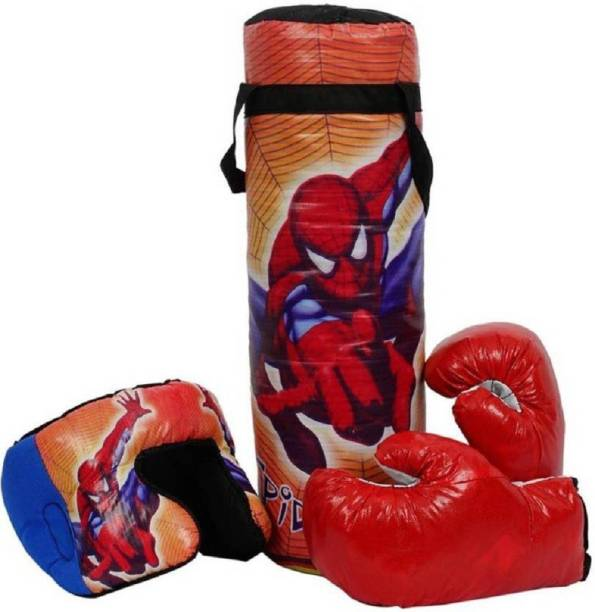 SHRIBOSSJI BOXING PUNCHING BAG KIT FOR KIDS (COLOR MAY VARY)- SPIDER MAN Boxing