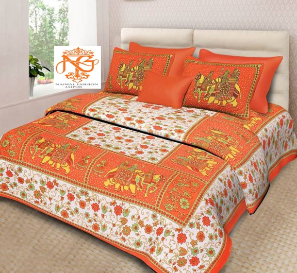 Naiwal Fashion Cotton Double Bed Cover