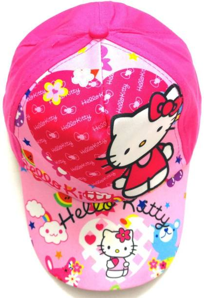 76df7ae4b47 Shopkooky Kitty print FANCY CAP for all function  Free size up to boys 12  years