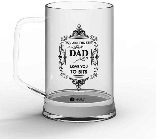 Indigifts Fathers Birthday Gift, Gift for Papa, Fathers Day Gifts, Dad Gift You are the Best Dad, Love you to bits Quote Glass