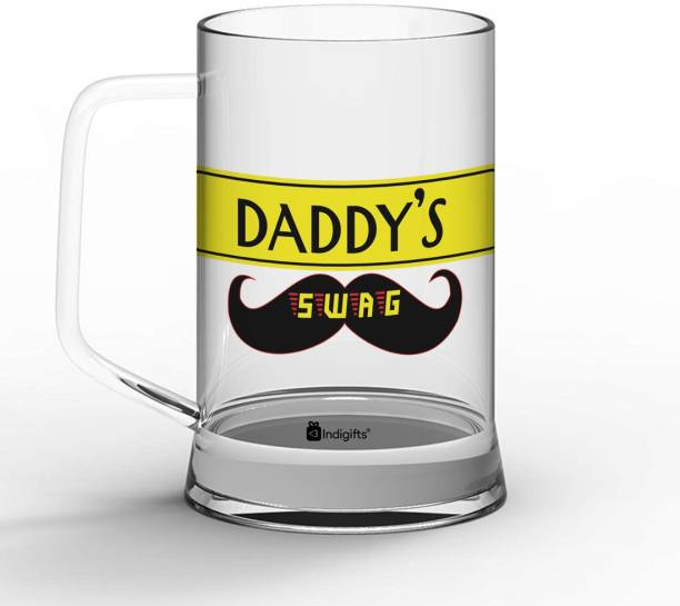 Indigifts Fathers Birthday Gift, Gift for Papa, Fathers Day Gifts, Dad Gift Daddy's Swag Quote Glass