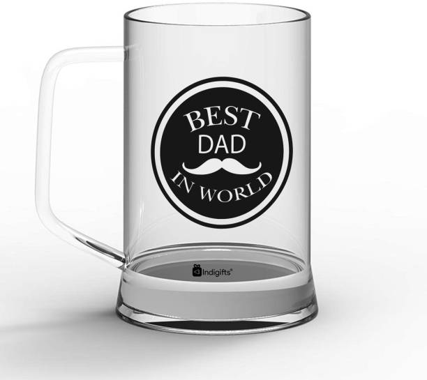 Indigifts Gift for Papa, Fathers Birthday Gift, Dad Gift, Gifts for Parents, Fathers Day Gifts Best Dad in the World Quote Glass