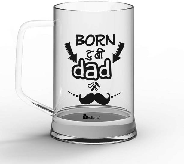 Indigifts Fathers Day Gifts, Dad Gift, Fathers Birthday Gift, Gift for Papa, Gifts for Parents Born to be Dad Quote Glass