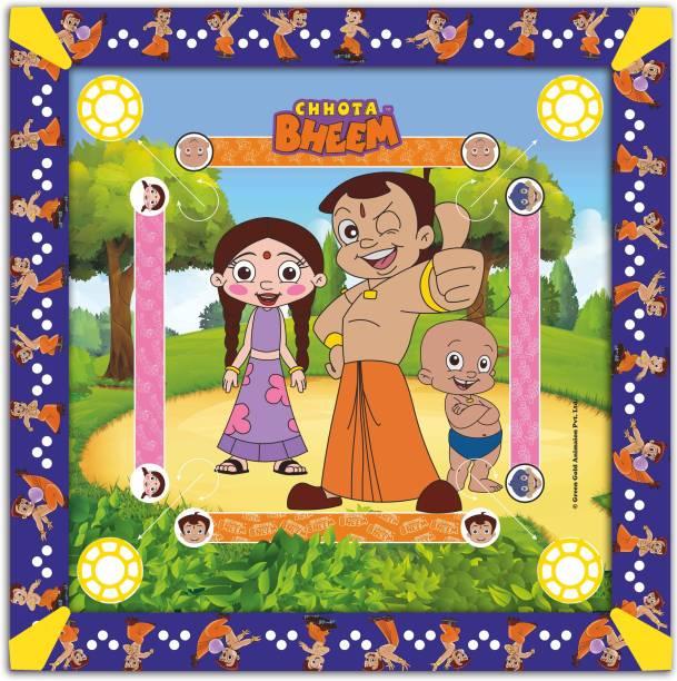 CHHOTA BHEEM Kids Carrom Board (26x26 inch) Carrom Board Board Game