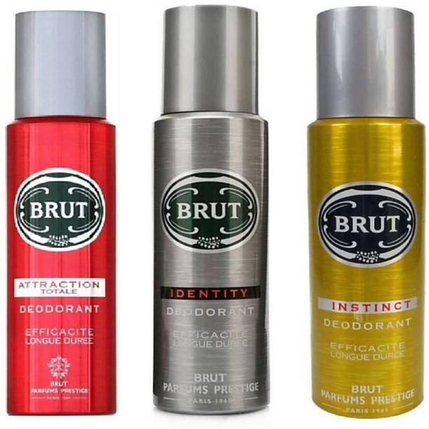 BRUT ATTRACTION TOTALE,IDENTITY AND INSTINCT Deodorant Spray  -  For Men