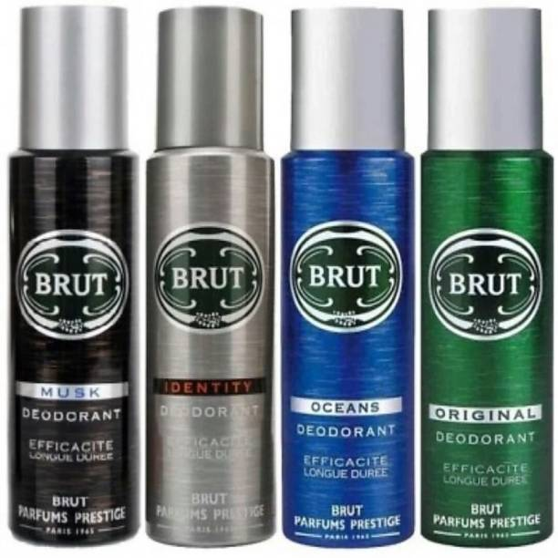 BRUT MUSK,IDENTITY,OCEANS AND ORIGINAL Deodorant Spray  -  For Men