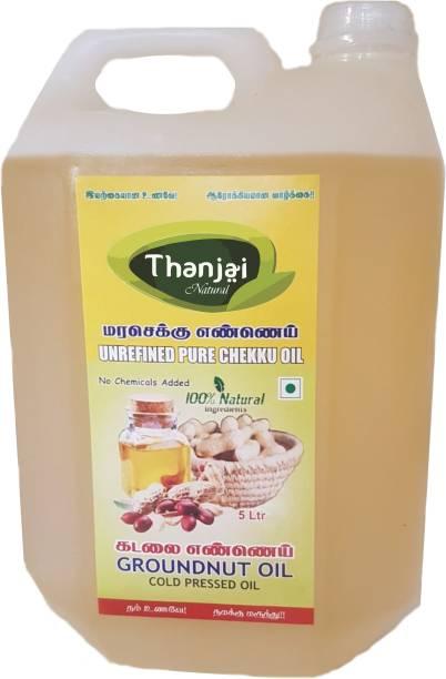 THANJAI NATURAL Natural Cold Pressed Groundnut Oil 5000ml Best Offer Groundnut Oil Plastic Bottle