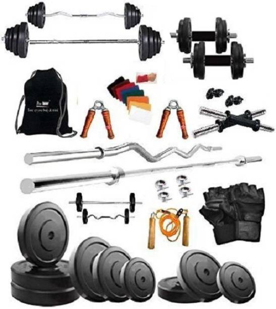 Pro-toner 20 kg 20KG Weight Lifting Package with Rods Home Gym Combo