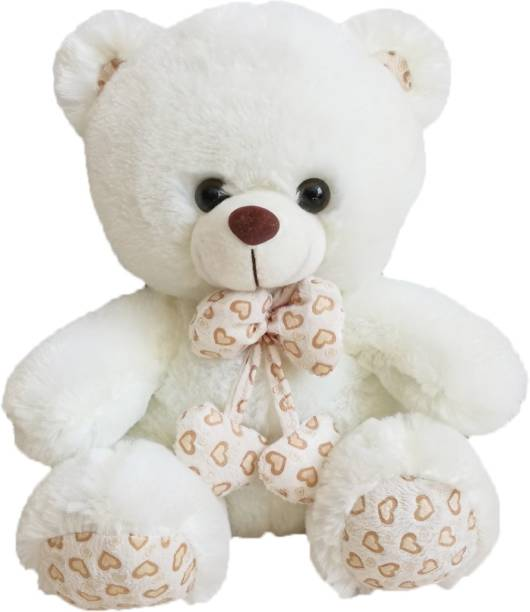 ab766d890cd My Baby Excel Bear with Printed Bow and Paws 27 cm Cream Colour - 27 cm