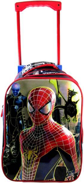 e5fd1112fe5f Ehuntz Spiderman 5D embossed Trolley school travel bag (8 to 16 years) (