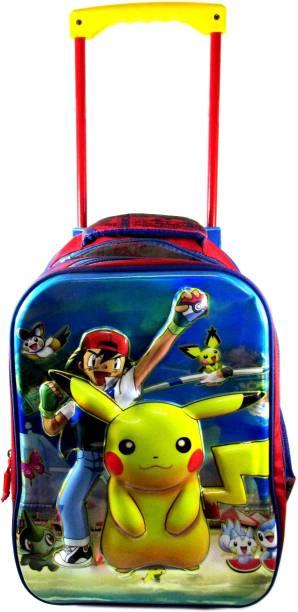 ehuntz Pokemon 5D embossed Trolley school/travel bag (8 to 16 years) (EH1067) Waterproof Trolley