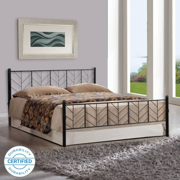 FurnitureKraft Lisbon Metal Queen Bed