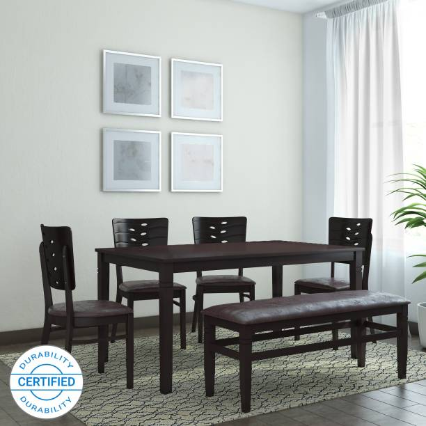 @Home by nilkamal Fern Solid Wood 6 Seater Dining Set