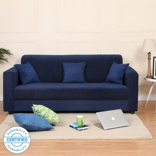 Perfect Homes By Flipkart Bergen Fabric 3 Seater Sofa
