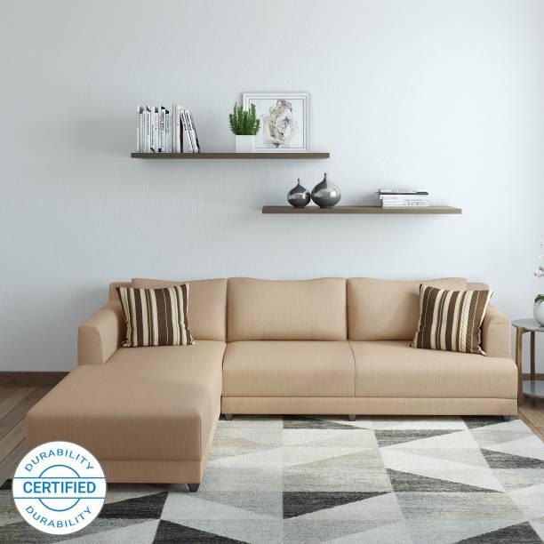 Bharat Lifestyle Marina Fabric 6 Seater  Sofa