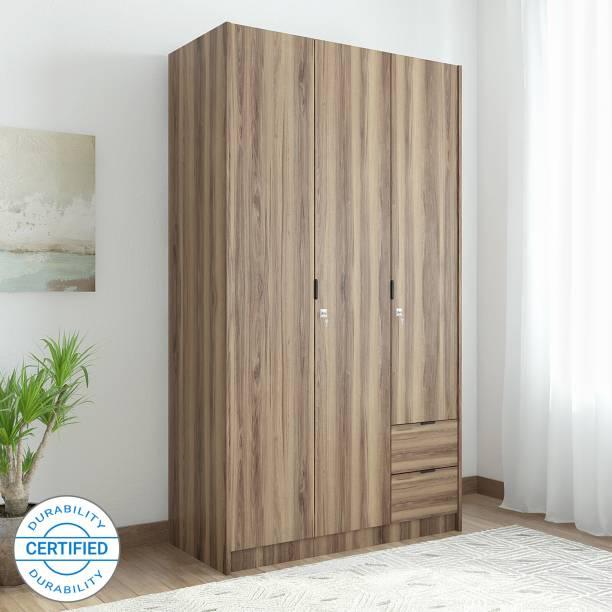 @Home by nilkamal Avery Engineered Wood 3 Door Wardrobe