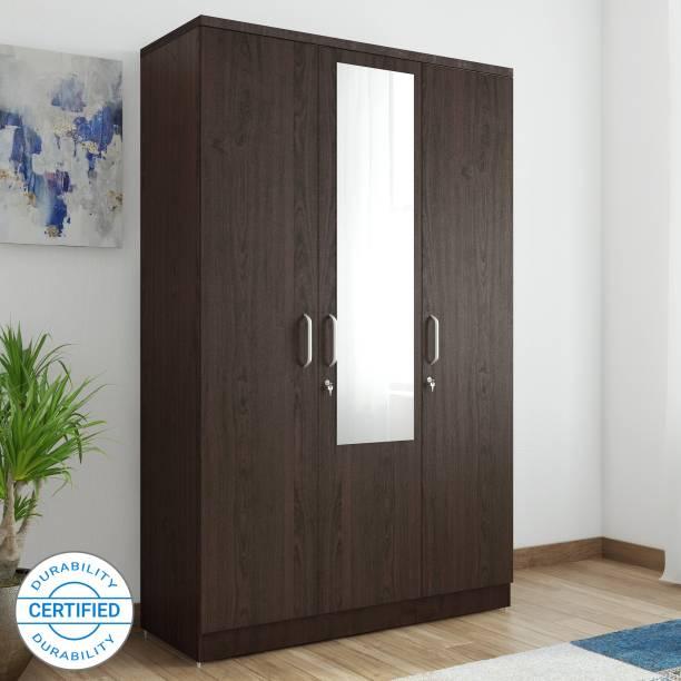 Spacewood Weave Engineered Wood 3 Door Wardrobe