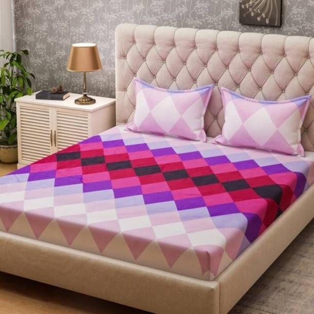 Bombay Dyeing 160 TC Polyester Double Geometric Bedsheet
