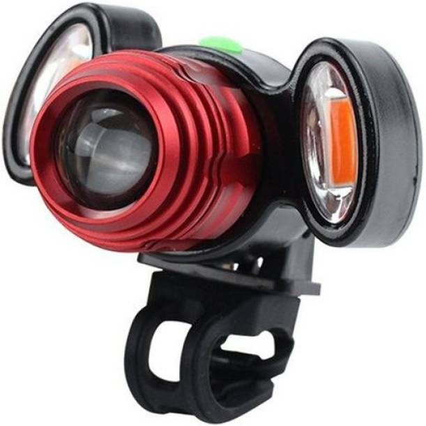 e5fda447498 ShivExim Bicycle Zoom-able Feature 4 Mode LED Bicycle Headlight Focus Front  Light with 2