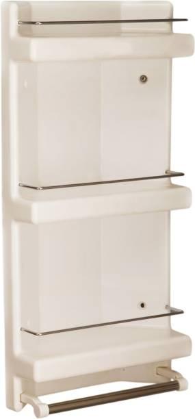 Branco Price Corner Plastic Wall Shelf