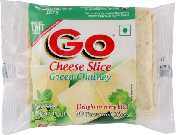 Go Green Chutney Processed cheese Slices