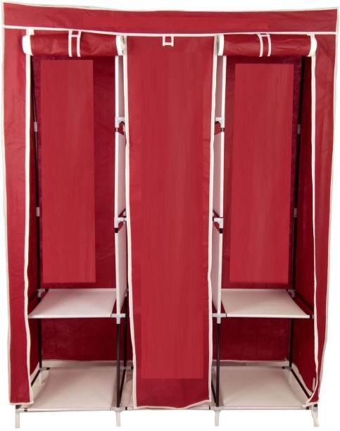 GALLAXY 3 Layer Storage Wardrobe Cotton Collapsible Wardrobe