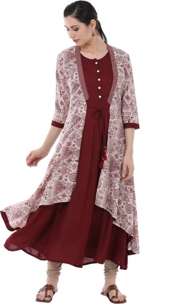 a281b83308f9 Maroon Kurtis - Buy Maroon Kurtis Online at Best Prices In India ...