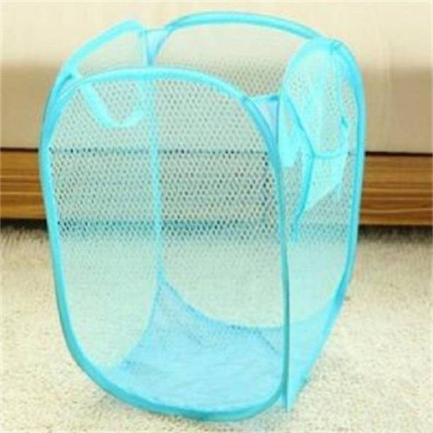 Loomantha 20 Blue Laundry Basket Bag Stool Storage