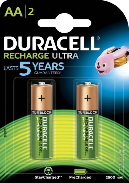 Duracell Ultra A A - 2 Pcs - 2500 mAh Rechargeable Ni-MH Battery