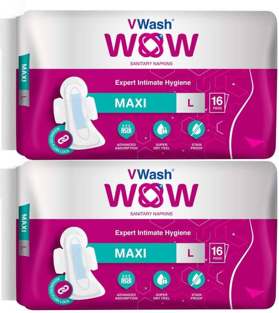 V Wash Wow Maxi Sanitary Pad