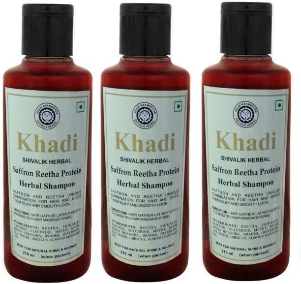 Khadi Herbal Saffron Reetha Protein Shampoo