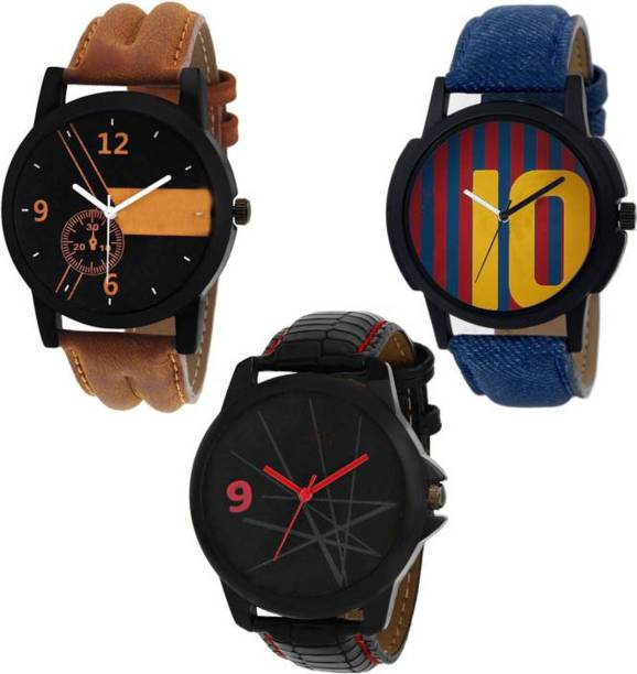f8683fe5d LEBENSZEIT New Arrival Stylish Leather Watch Combo Watch For Mens & Women  Watch - For Boys