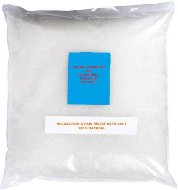 Trendmakerz 100% Natural Epsom Bath Salt for Relaxation and Pain relief, Bath Salt, Magnesium Sulphate Salt 200 grams