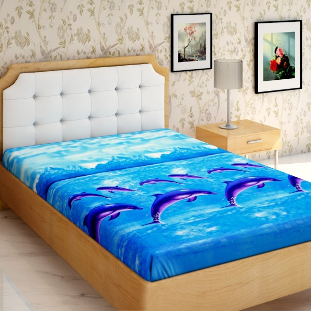 IWS 144 TC Microfiber Single 3D Printed Bedsheet