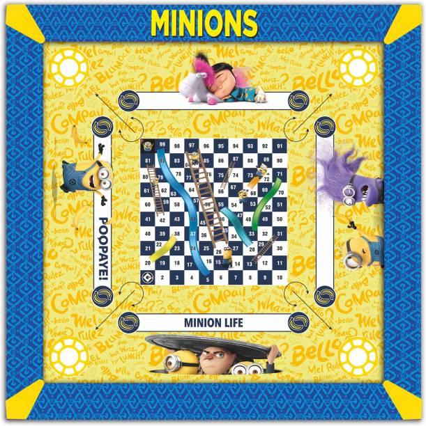 MINIONS Kids Carrom Board (17x17 inch) Carrom Board Board Game
