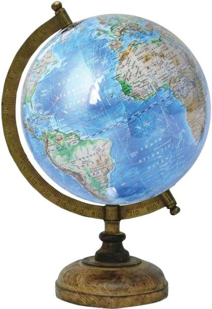 Globes buy globes online at best prices in india flipkart shrih educationalantique globe with brass antique arc and wooden base desk and table top gumiabroncs Gallery