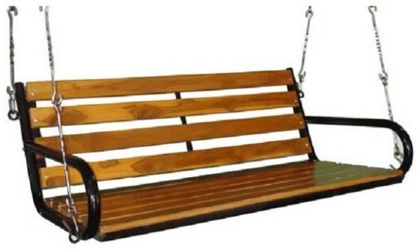 Kaushalendra TEAK WOOD Wooden, Iron Large Swing