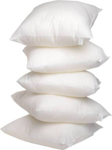 The Home Talk Cotton Solid Bed/Sleeping Pillow Pack of 5