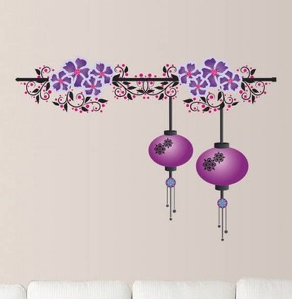 Happy Walls Purple Chinese Lamps With Flowers