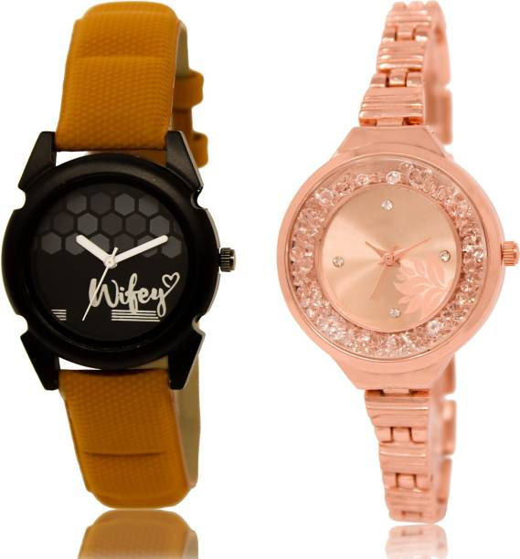fefeda1a15 PRATHAM SHOP Latest Quartz Combo Watch GL235-GL225 For Girls And Women Watch  - For