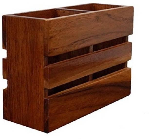 Wood Art Store Empty Cutlery Display Box Case