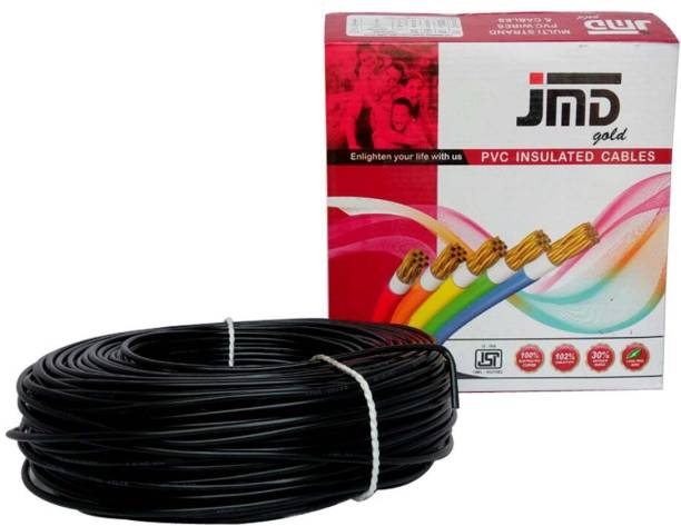 JMD GOLD FR, PVC 4 sq/mm Black 90 m Wire